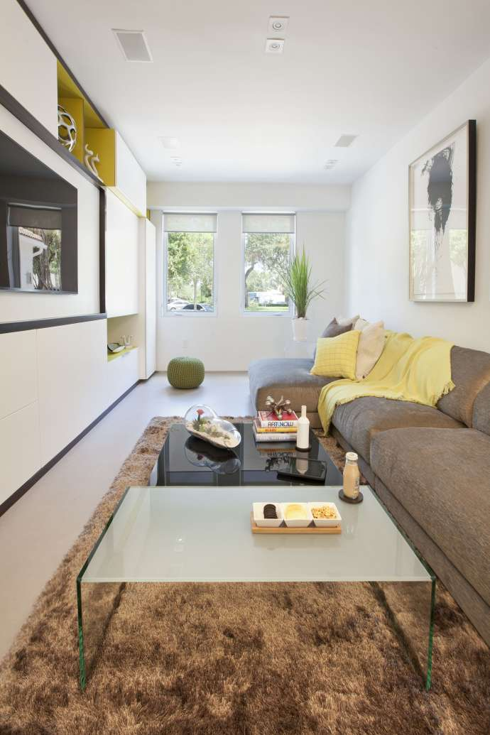 Clutter Free Organized Home Modern Miami Residential Interior Design Project In Florida