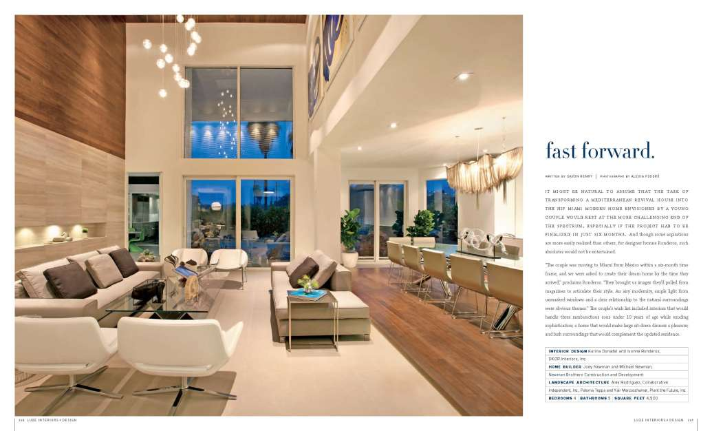LUXE Magazine South Florida Edition Picks DKOR Interiors As A