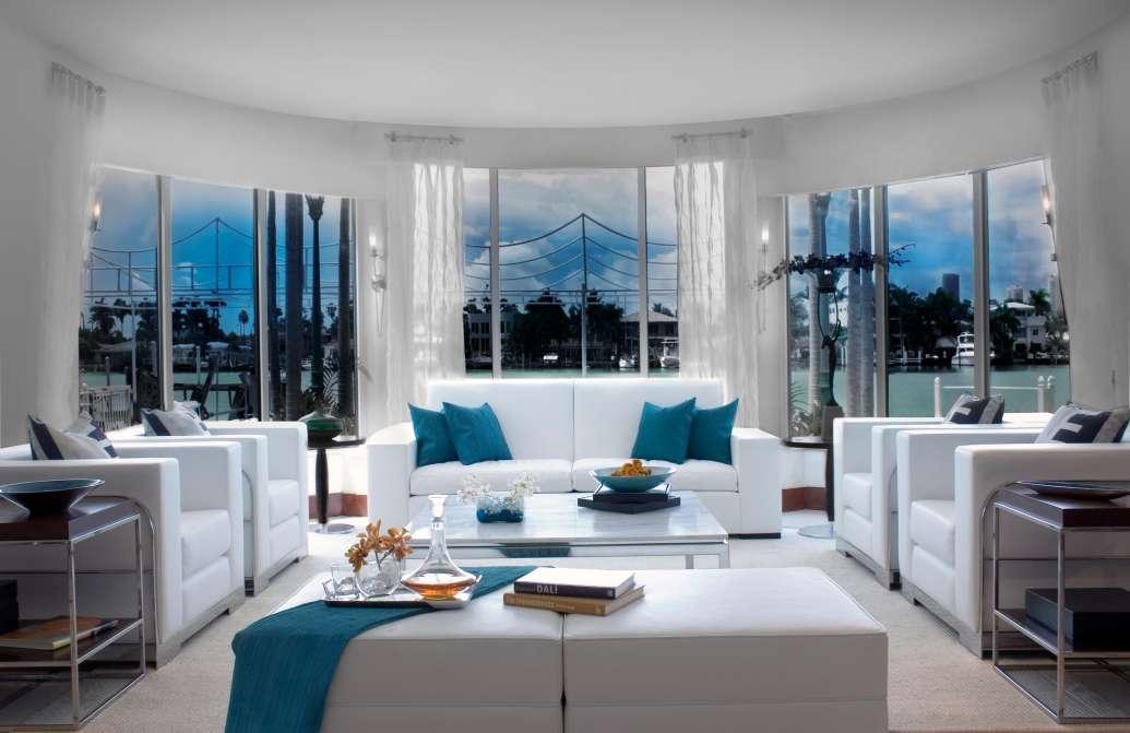 dkor interiors living room design - Living Room Miami