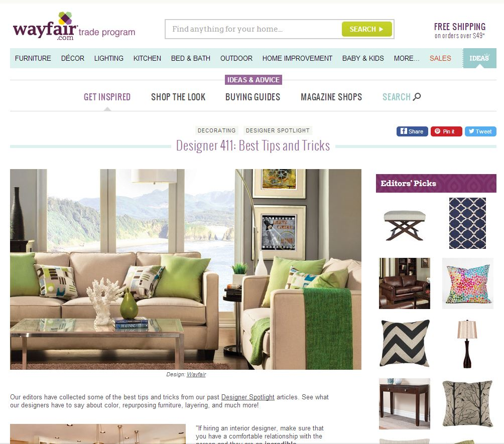 Interior Design Tips And Tricks designer 411: best tips and tricks from wayfair