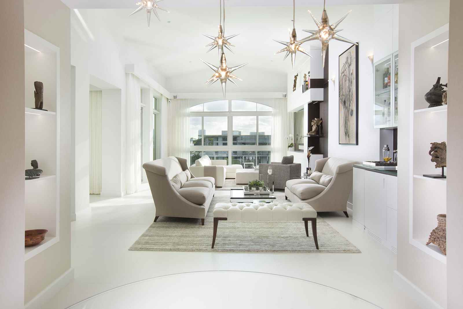 Waterfront penthouse residential interior design from for Residential interior design