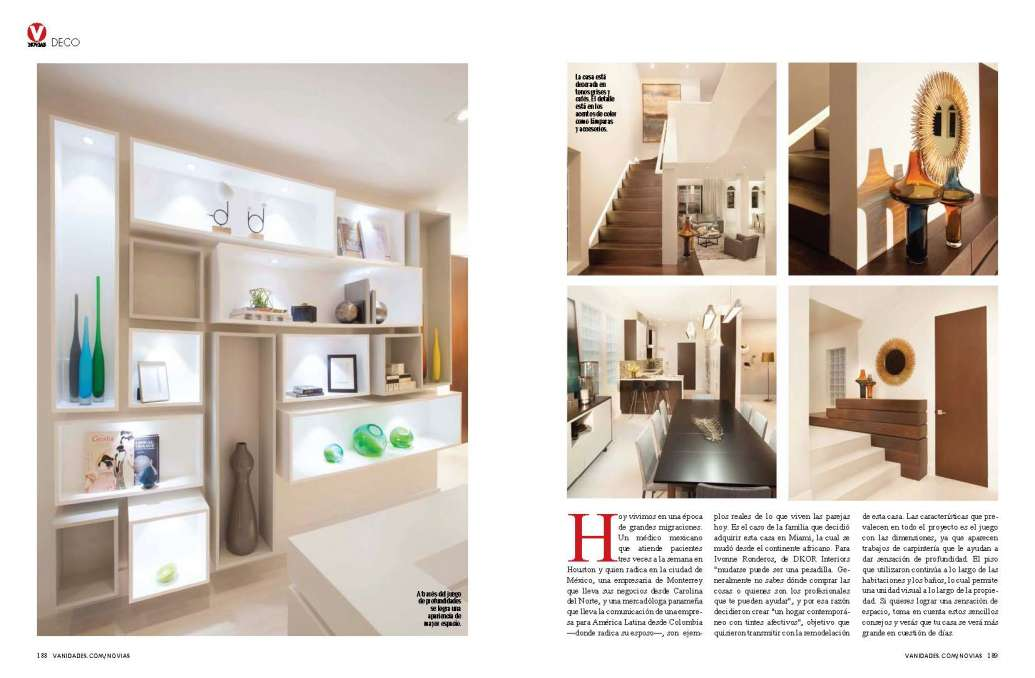 Miami interior designers in vanidades magazine for Miami interior design magazine