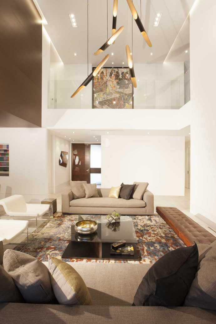 Miami contemporary home for W living room miami