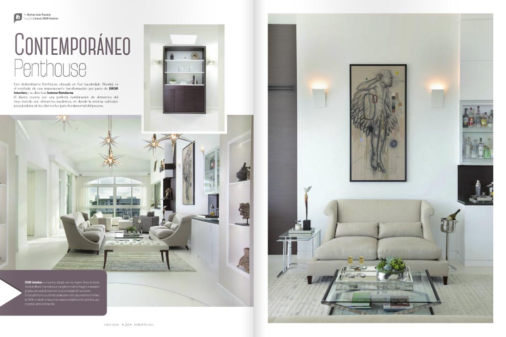International Interior Design Section Of OD Casas Venezuela