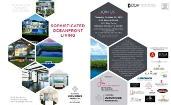 South Florida's Top Interior Design Firm And Florida Award Winning Builder Collaborate On A VIP Luxury Real Estate Event… And You're Invited.