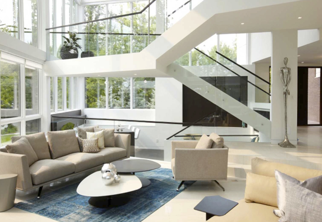 Phoenix Coffee Tables Living Room Of Our Interior Design Project Edge Modernism In Canada