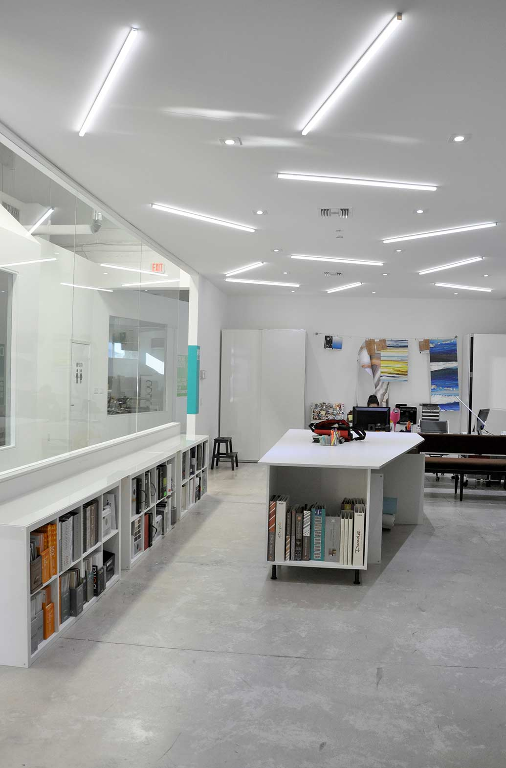 Florida interior design studio rightly illuminated with ...