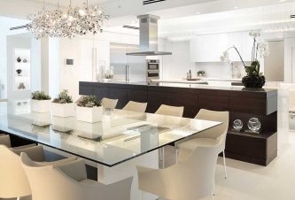 Styling A Fort Lauderdale Penthouse With A Stand-out Custom Dining Table