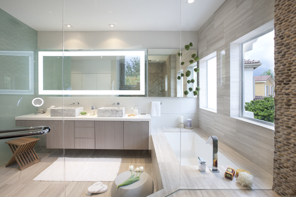 MODERN MIAMI HOME: BATHROOMS – Interior Design