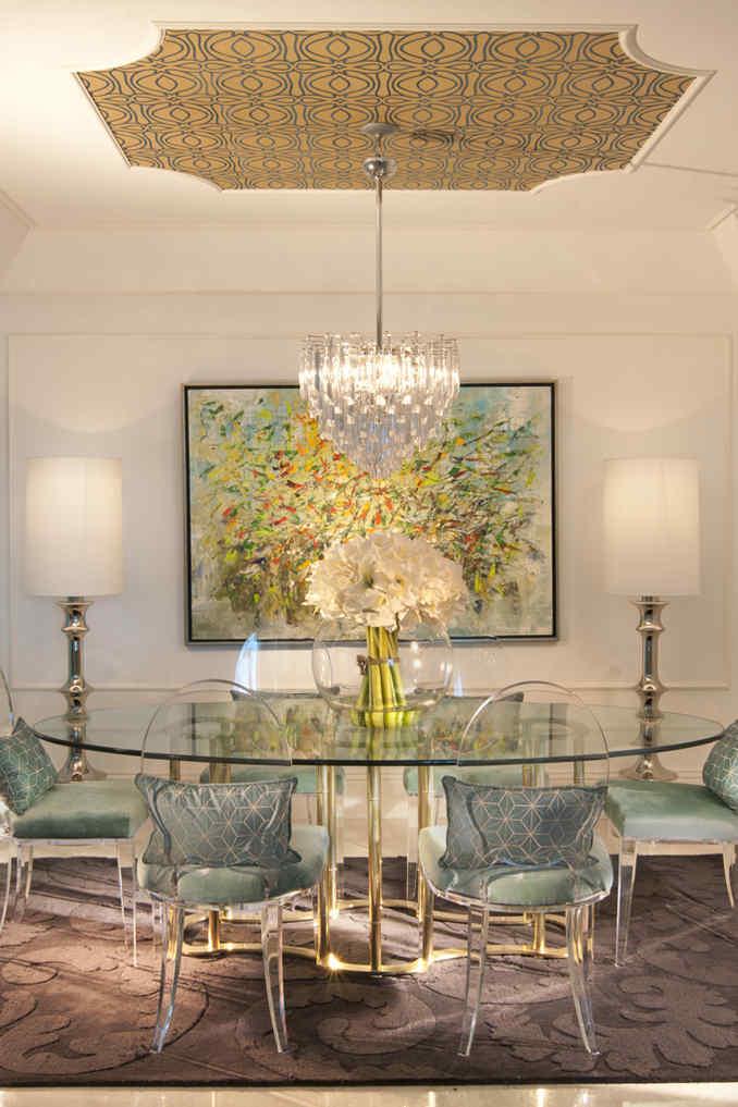 Hollywood Regency Dining Room