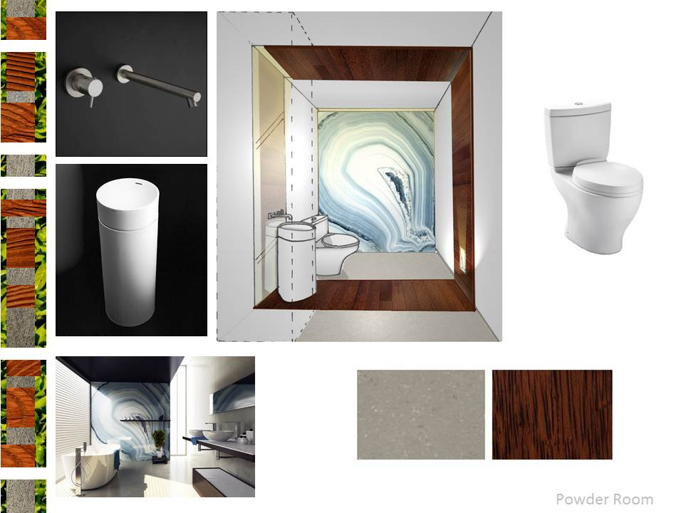 Miami Modern Home Interior Design Powder room Presentation