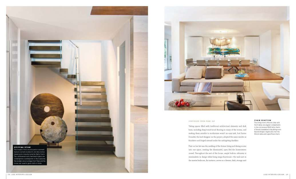 Miami Interior Design Home featured in LUXE Magazine