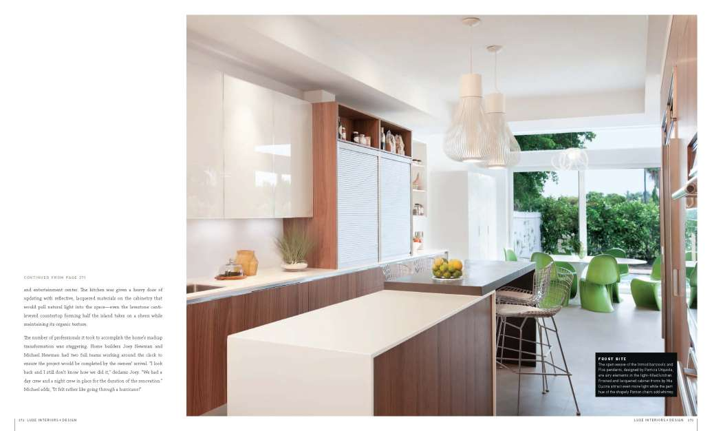 LUXE Magazine features Miami Modern Home Kitchen in Spring 2012 Edition
