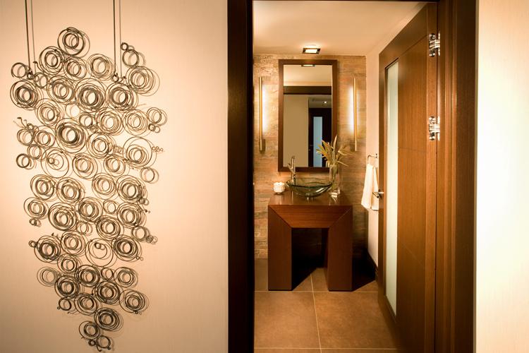 Powder Room Interior Design project in Hallandale Beach Condominium