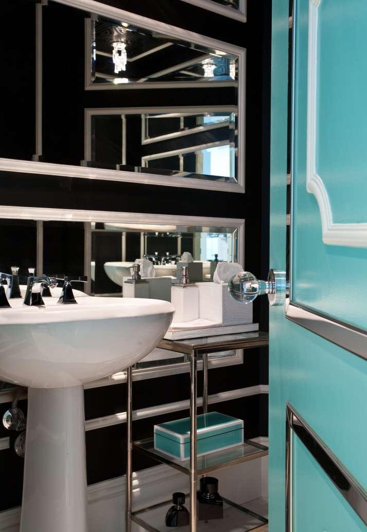 Interior Design Powder Room Sunny Isles, Florida Turnberry Ocean Colony