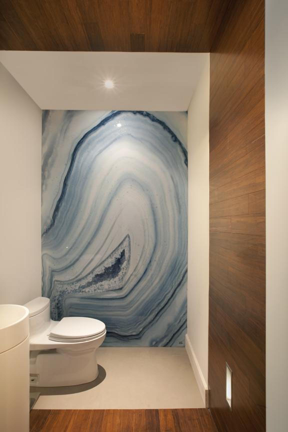 Miami Modern Home Interior Design Project: Powder Room