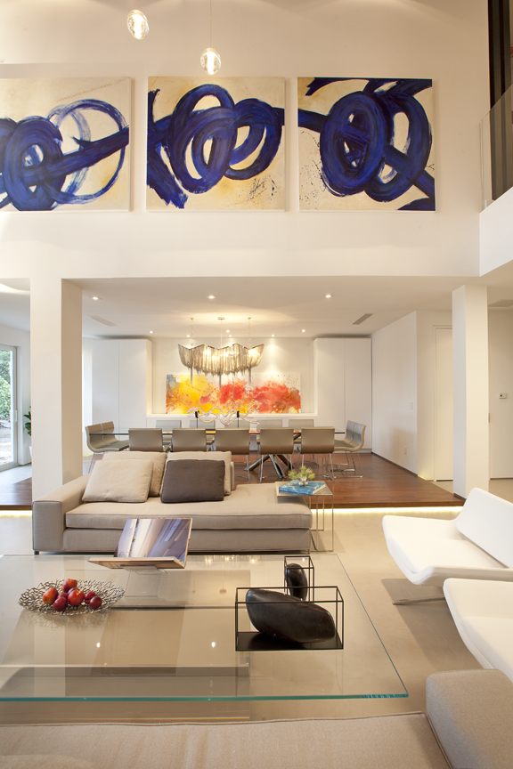 Miami Modern Home Interior Design Project - Living Room