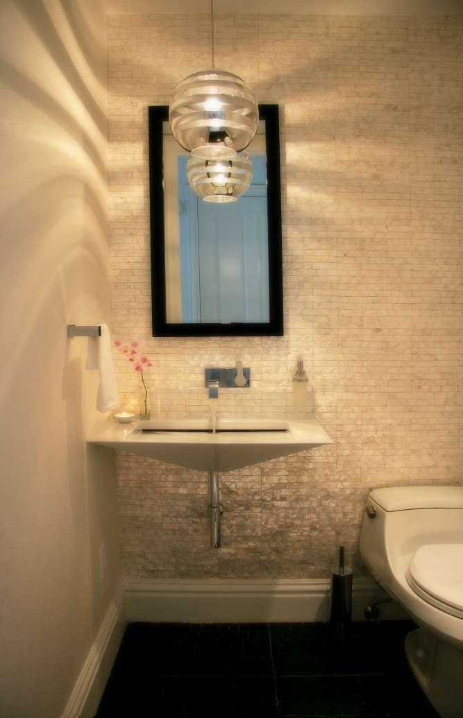 Interior Designed Powder Room in Bal Harbour, FL