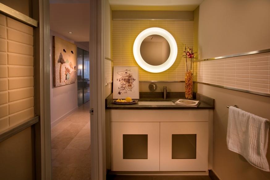 Interior Design Powder Room in The Peninsula - Aventura, FL