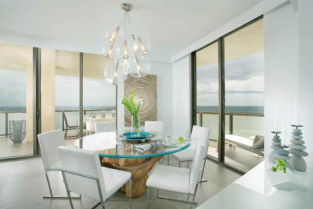 "Coastal Dining Room from the ""Sophisticated Getaway"" interior design project by DKOR Interiors"