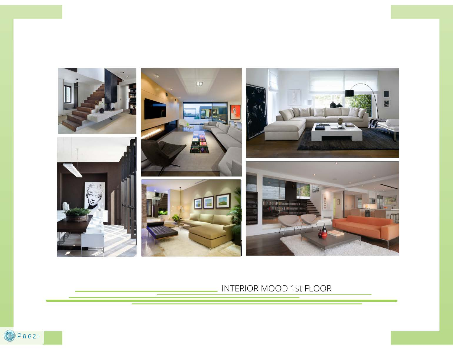 concept presentation: a contemporary moody home, Powerpoint templates