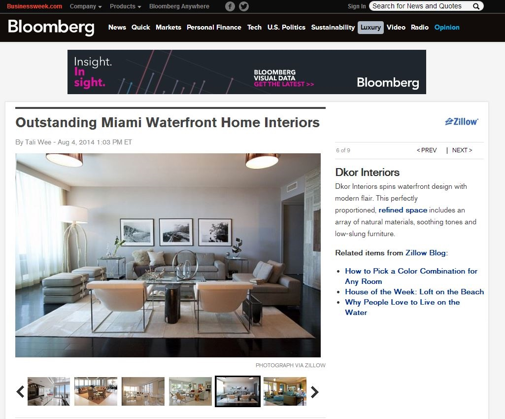 DKOR Interiors featured on Bloomberg