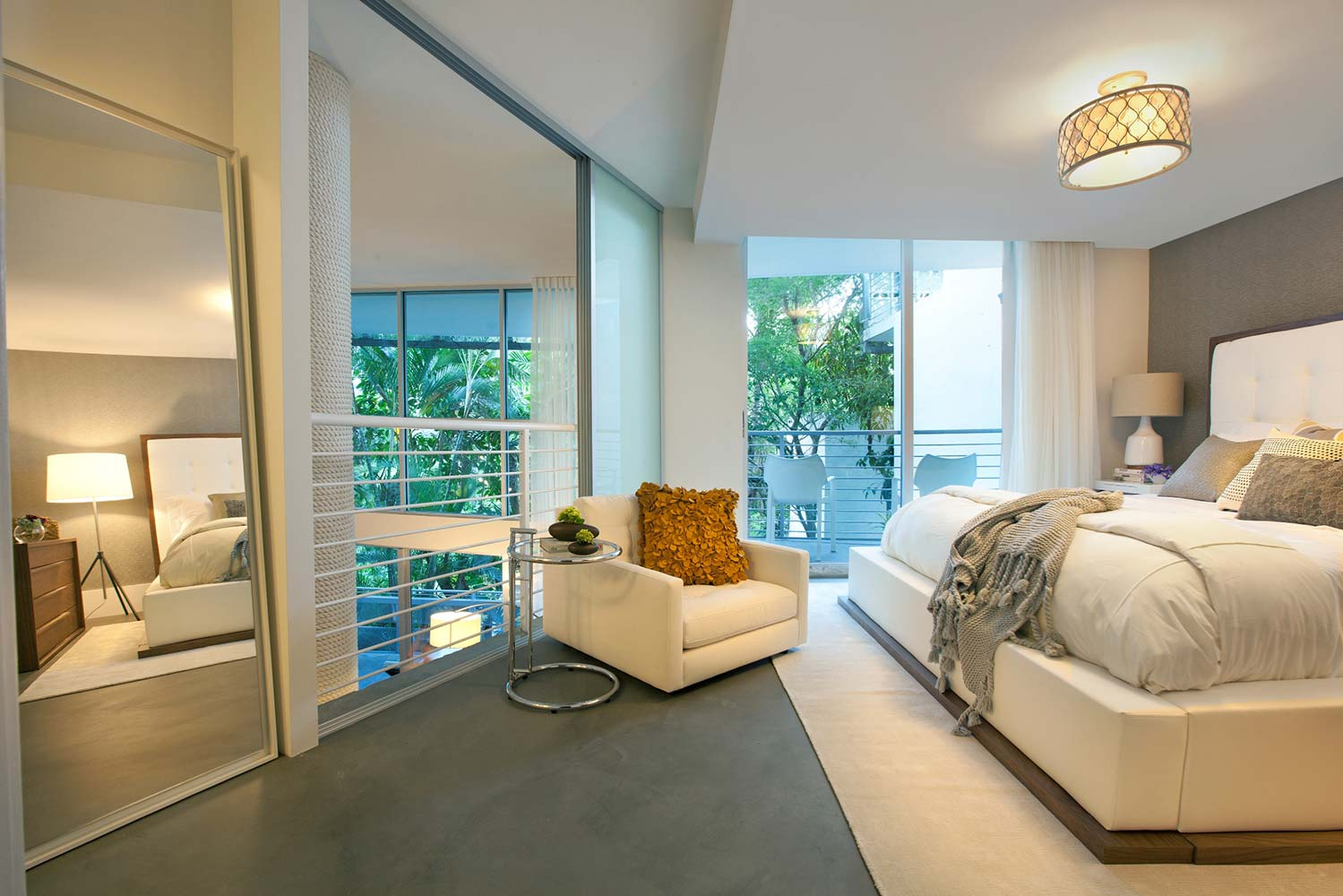South beach chic interiors by dkor miami interior designers - Interior decorations for bedrooms ...