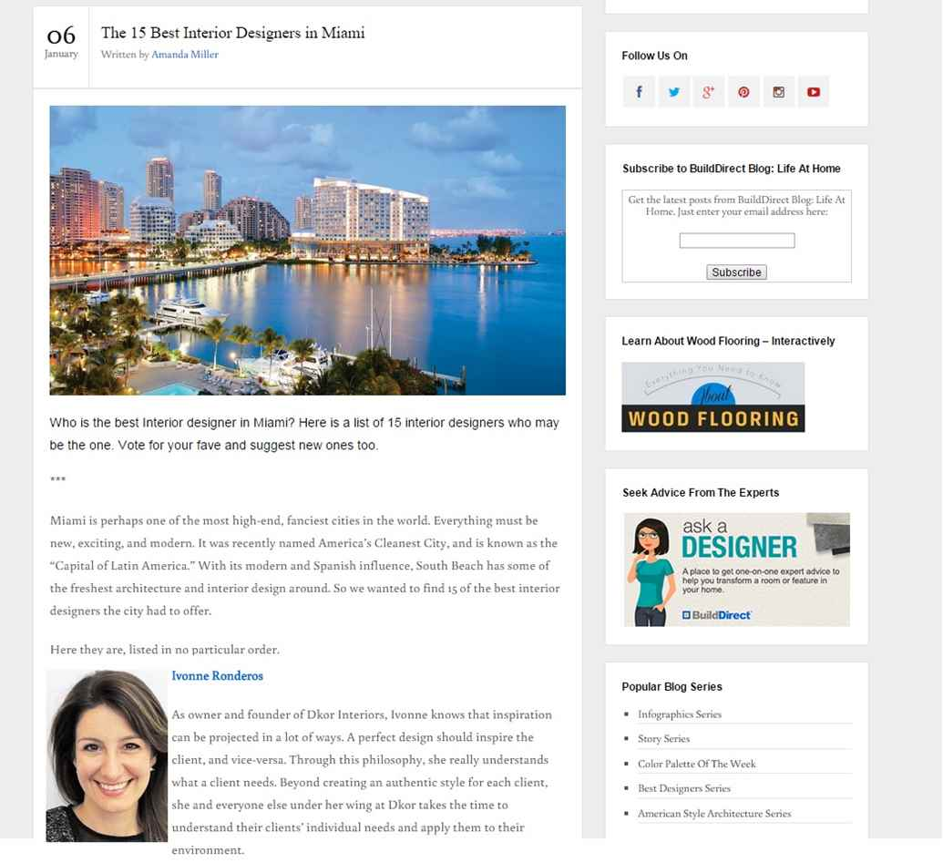 DKOR Voted Among Top Miami Interior Design Firms