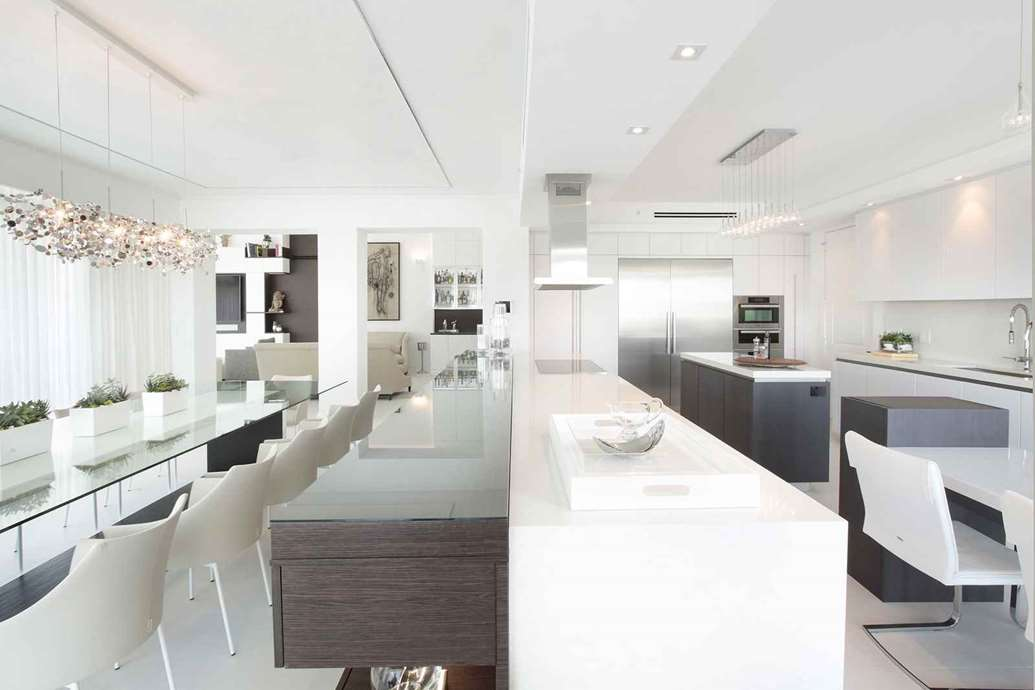 Fort Lauderdale Waterfront Penthouse Kitchen Design