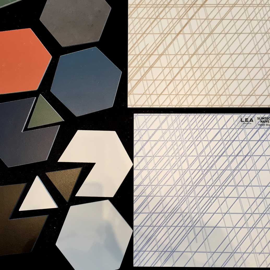 Hexagons and new geometries tiles design