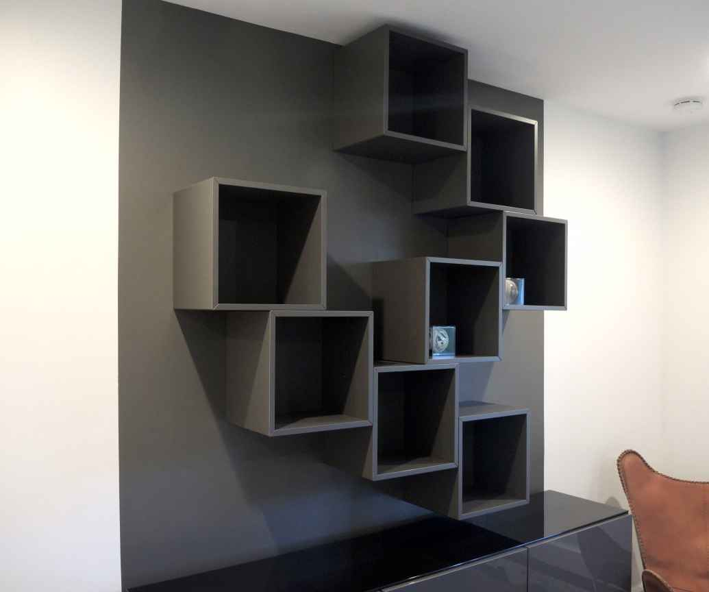 Best IKEA Hack by Miami interior designers  Wall shelves   Besta units. Miami Interior Designers bring you the best IKEA Hacks