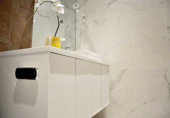 Ann Sacks Outfits Our New Creative Studio's Powder Room With Gorgeous Ceramic Tiles – Thank You! 4