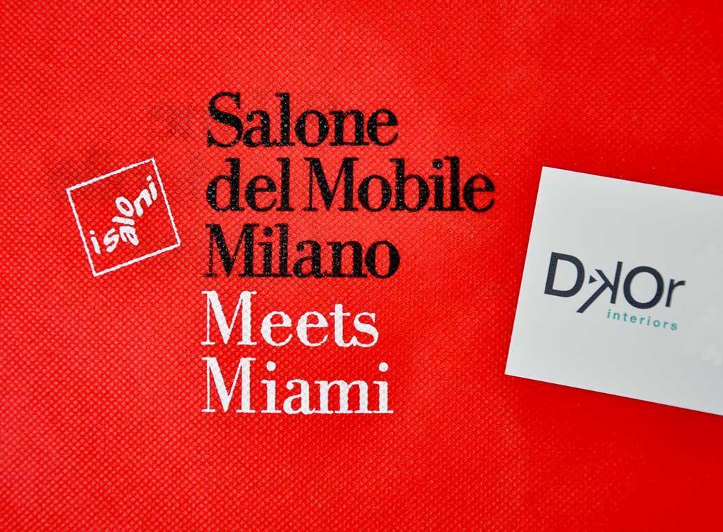 Miami Interiors Designers and Salone Del Mobile meeting in Miami Art Basel!