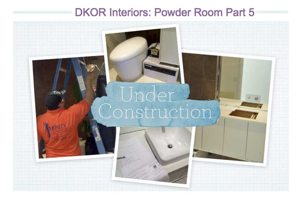 DKOR's Powder Room Design is officially up on wayfair.com!