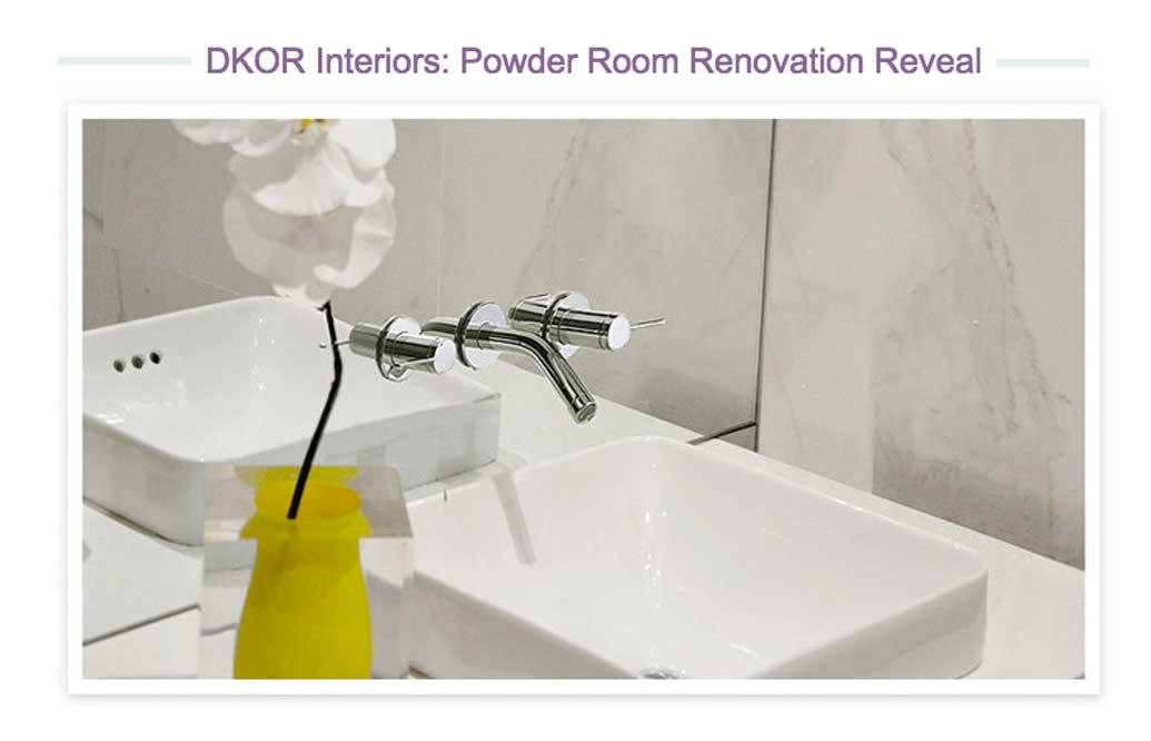 DKOR's Powder Room Design is officially up on wayfair.com!
