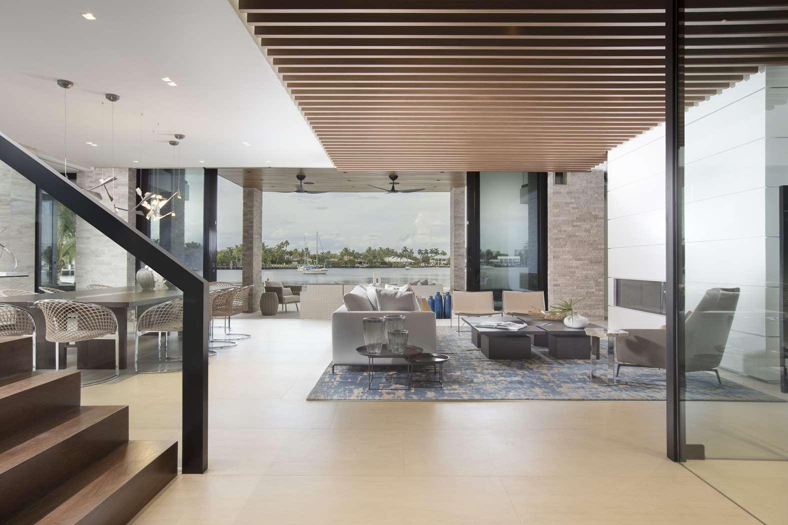 Interior Design Modern: Waterfront Elegance Fort Lauderdale