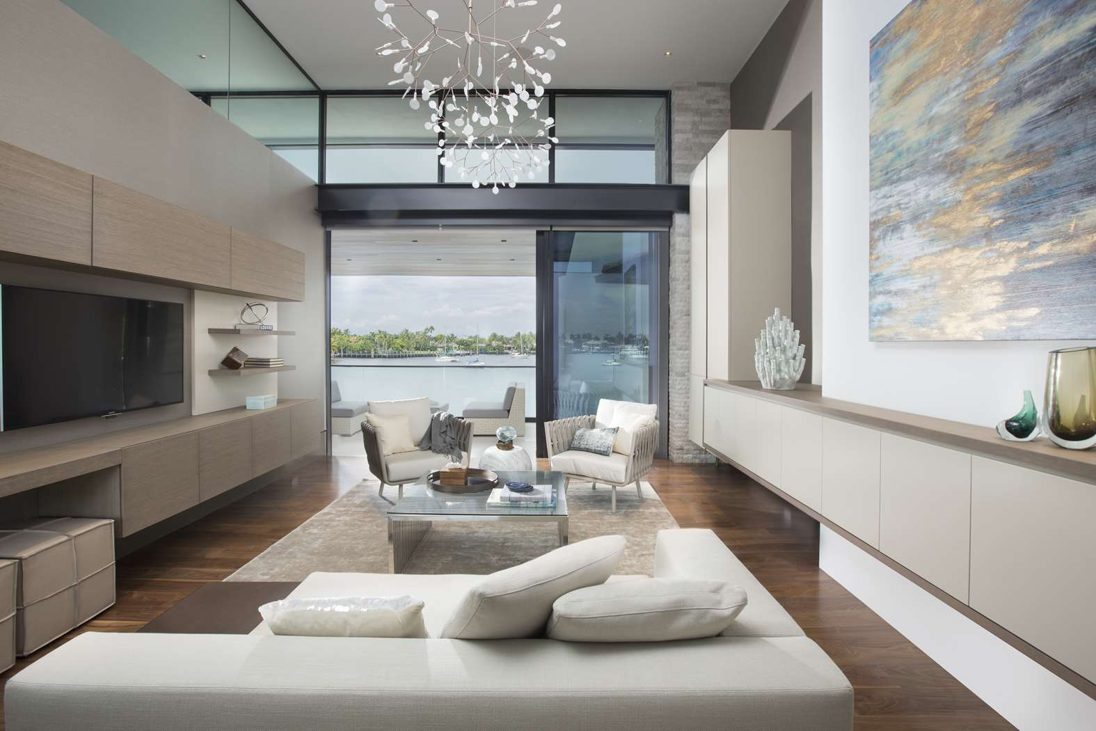 Waterfront elegance fort lauderdale dkor interiors for Interior design