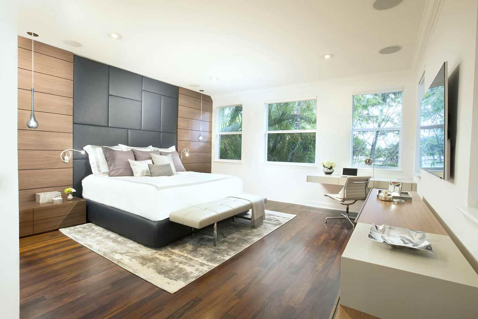 transitional bedroom miami gem modern masterbedroom residential interior headboard gray interiors decorating homeluf