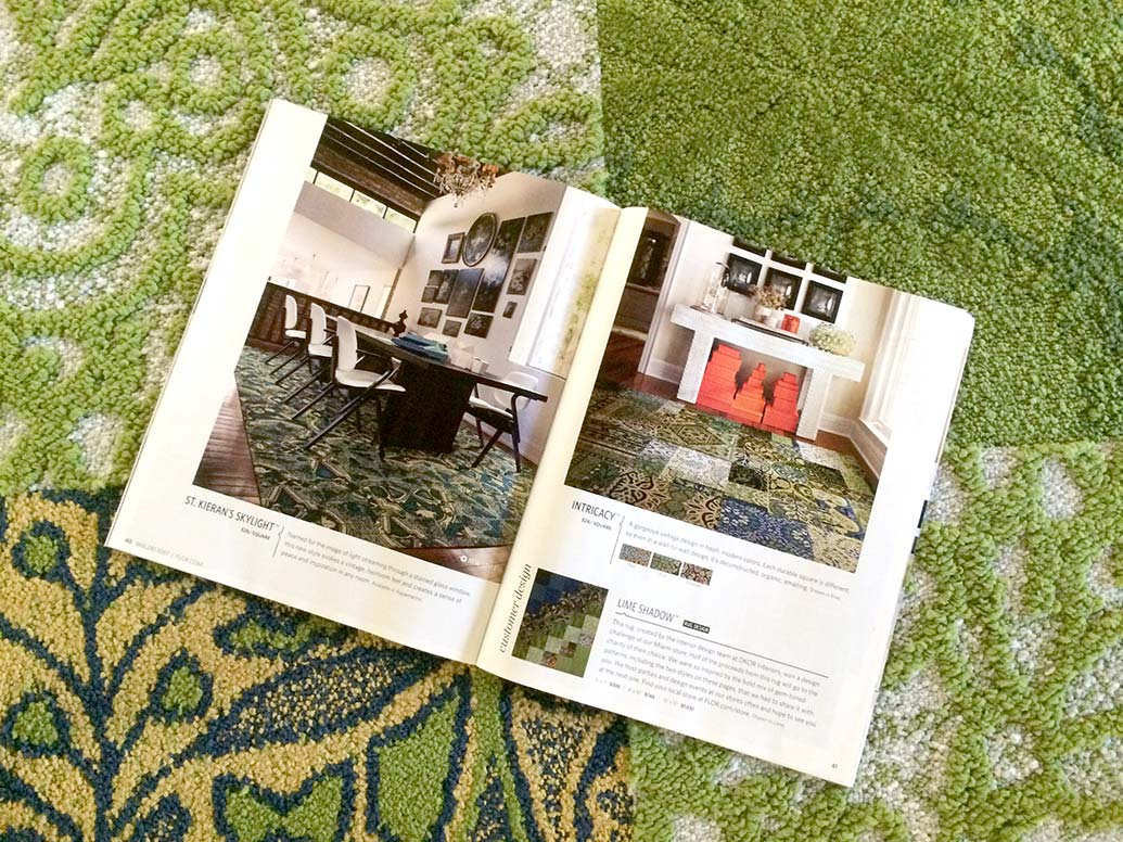 Rug design by DKOR interior design team on FLOR's new spring collection