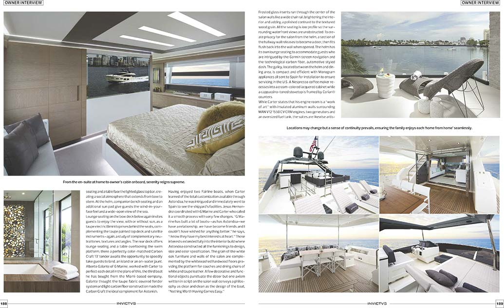 South Florida interior design team and luxury yacht builders