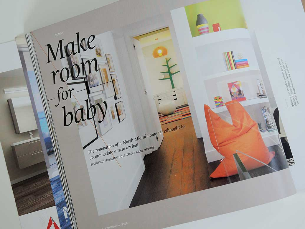 Miami contemporary home featured in South Florida Home magazine