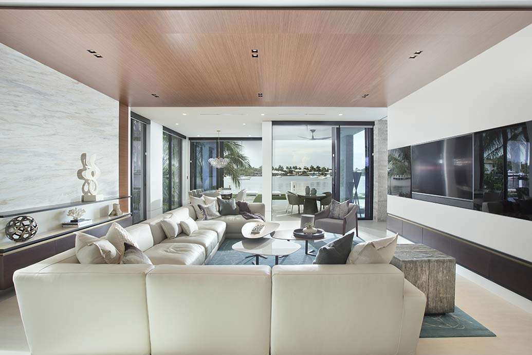 Ft Lauderdale Contemporary Waterfront Home Reveal Residential Interior Design From Dkor Interiors