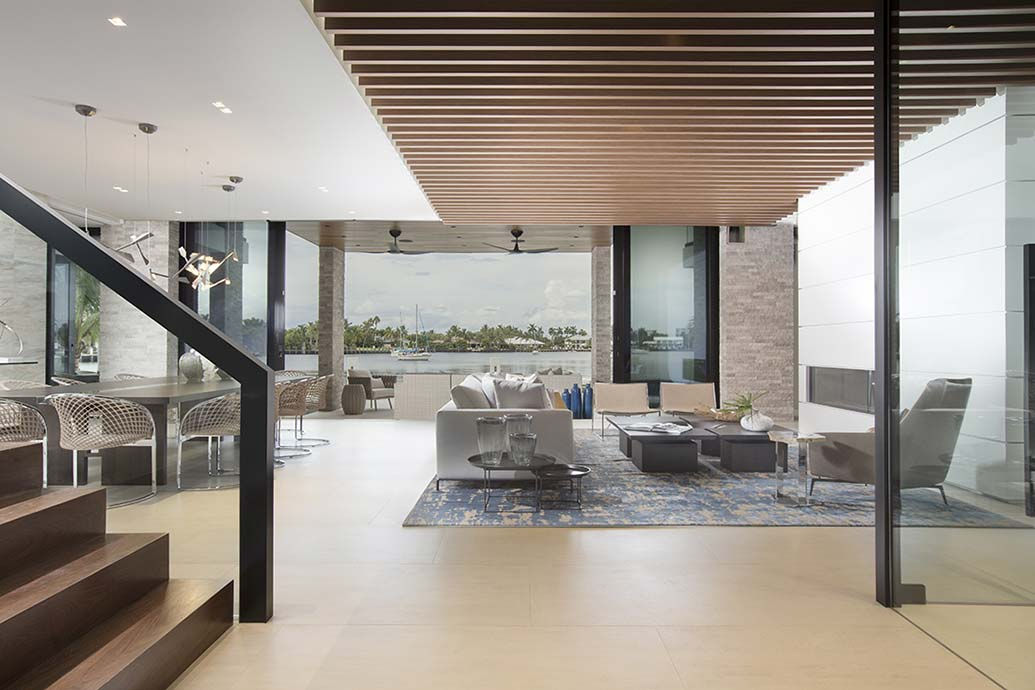 Ft lauderdale contemporary waterfront home reveal for Interior design jobs fort lauderdale