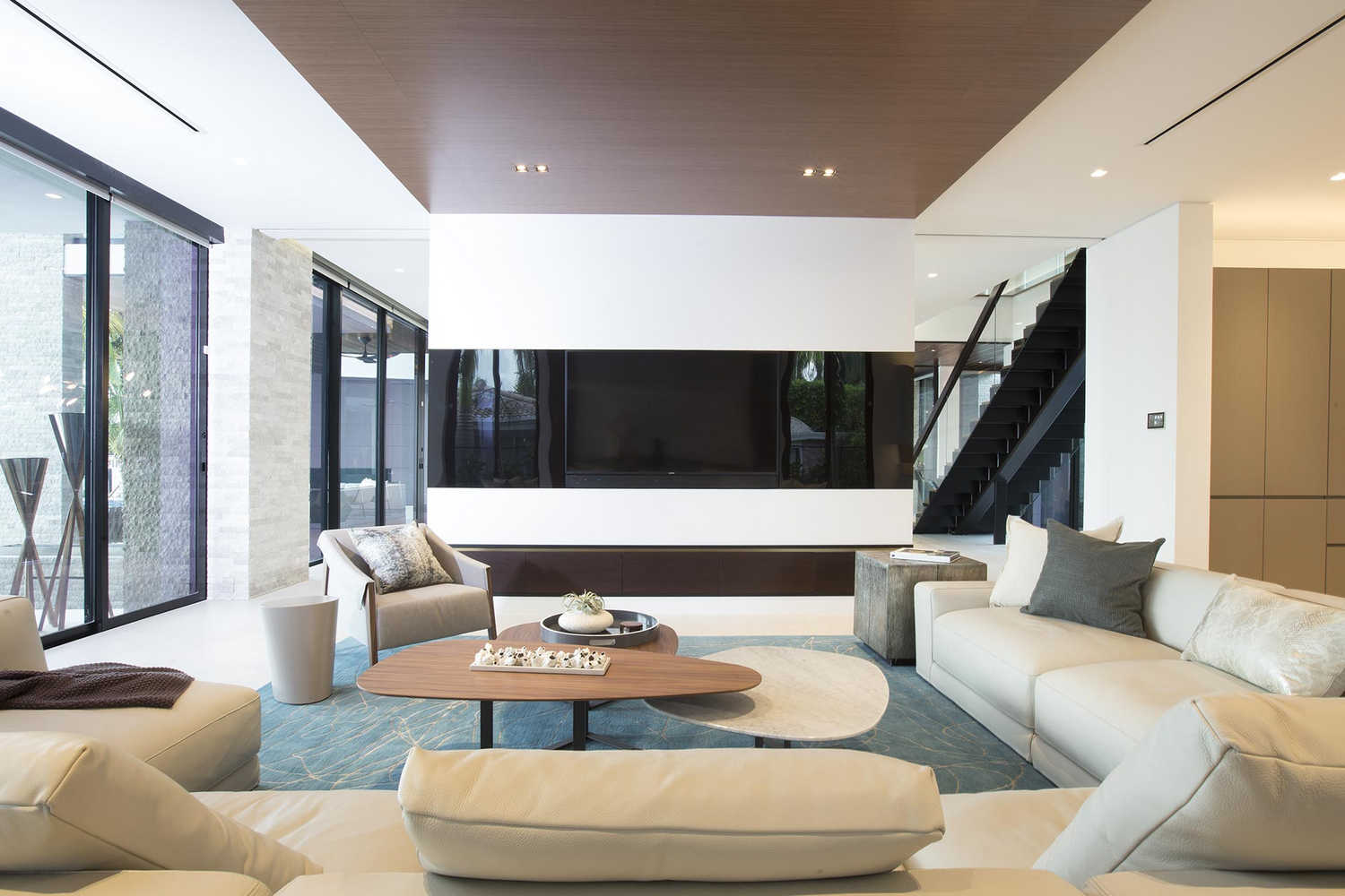 Family rooms residential interior design from dkor interiors for Residential interior designs