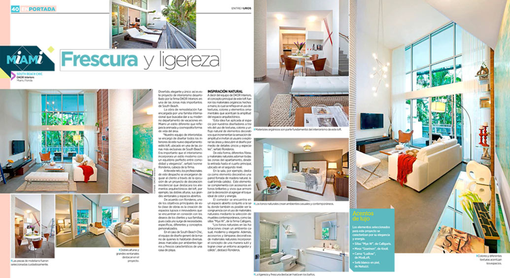 Miami Vacation Homes Featured on Entre Muros