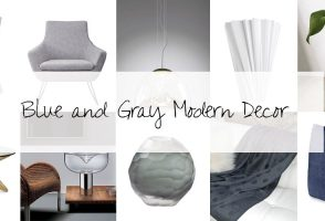 Designer Picks: Blue And Gray Modern Decor