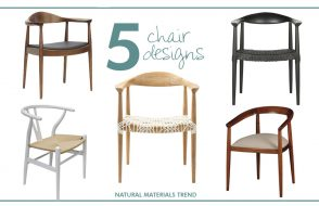 The Natural Materials Trend: Chairs Edition