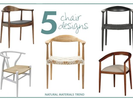 The Natural Materials Trend: Chairs Edition 1
