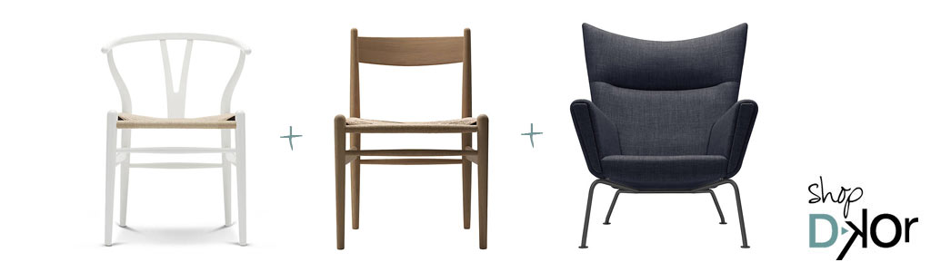 Iconic modern designs the ch07 shell chair for Iconic modern chairs