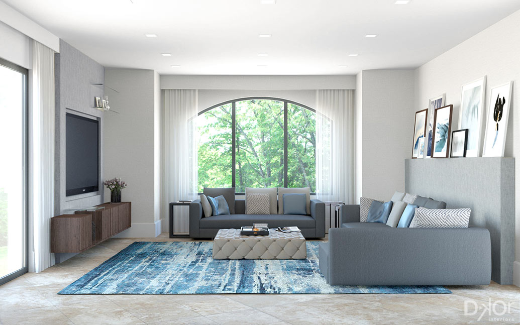 Phase two of a miami home 39 s complete transformation for Complete home interior design